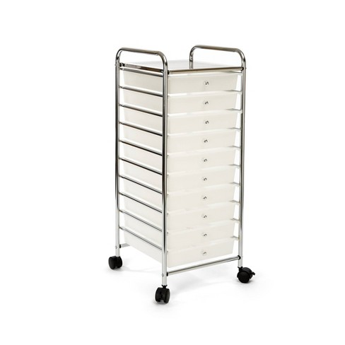 Seville Classics 10 Drawer Organizer Cart White - image 1 of 4