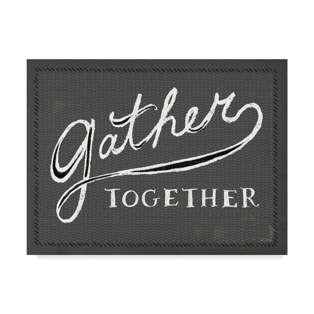 Trademark Fine Art 47 x 35 Sue Schlabach 'Together Vi Gray and Black' Canvas Art was $129.99 now $103.99 (20.0% off)