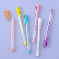 6ct .8mm Scented Neon Gel Pen - More Than Magic™