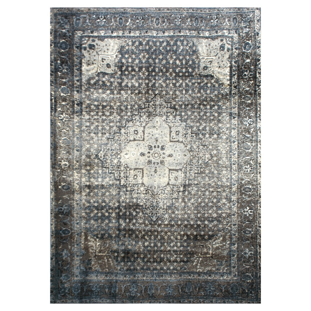 Blue Abstract Woven Area Rug (9'x12') - nuLOOM