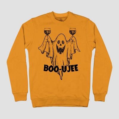 Men's Boo-ujee Crewneck Long Sleeve Sweatshirt - Orange
