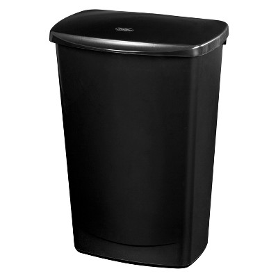 11.4gal LiftTop Wastebasket Black - Room Essentials™