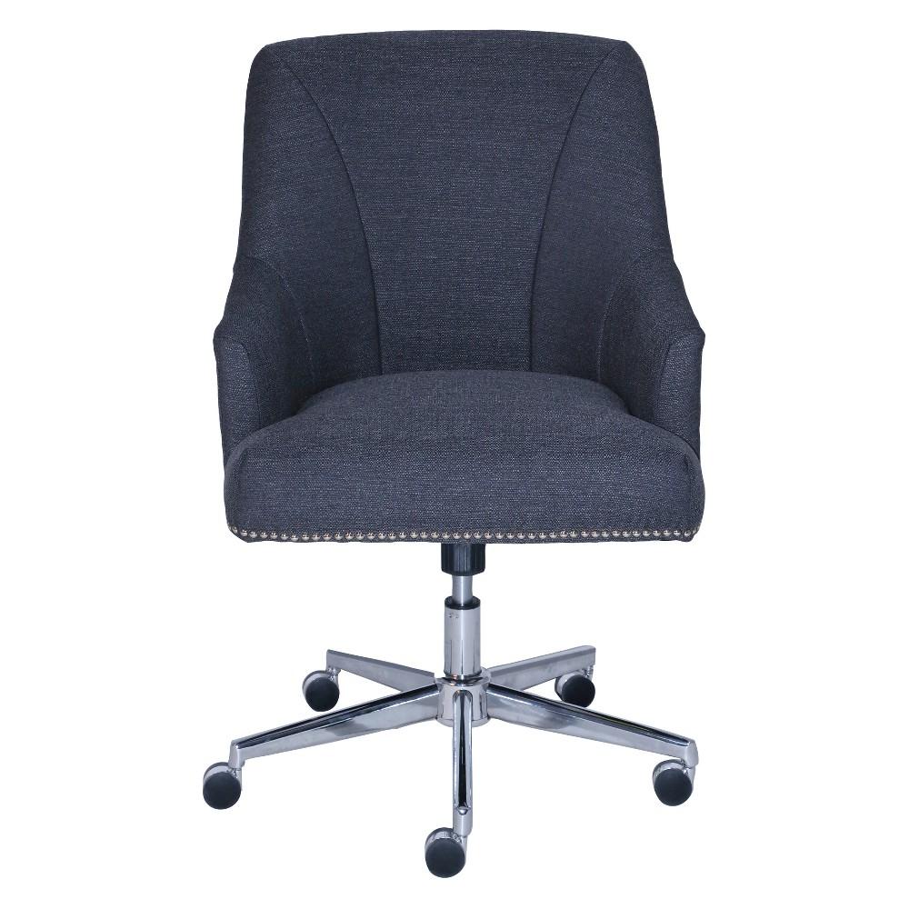 Style Leighton Home Office Chair Sanctuary Blue - Serta
