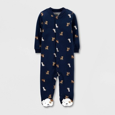 Baby Boys' Puppy Interlock Sleep 'N Play 1pc Pajama - Just One You® made by carter's Navy 3M