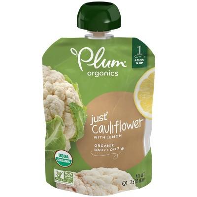 Plum Organics Stage 1 Veggie Just Cauliflower Baby Meals - 3.5oz