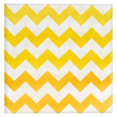 20ct Yellow Chevron Dinner Napkin - image 1 of 1
