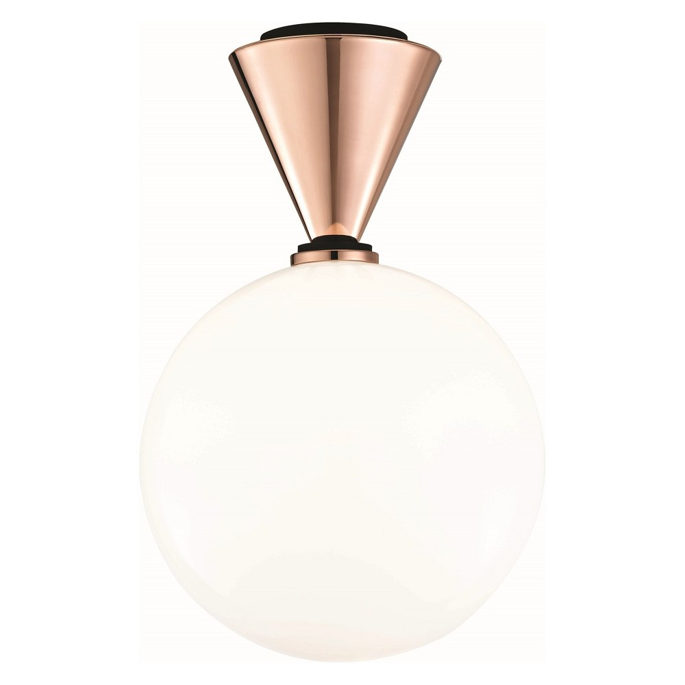 Piper Large Led Flush Mount Copper (Brown) - Mitzi by Hudson Valley
