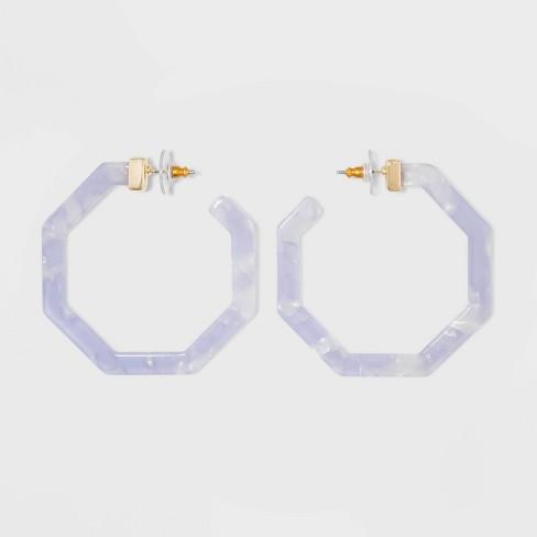 SUGARFIX by BaubleBar Geometric Resin Hoop Earrings - image 1 of 3