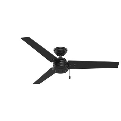 """52"""" Cassius Damp Rated Ceiling Fan Black - Hunter"""