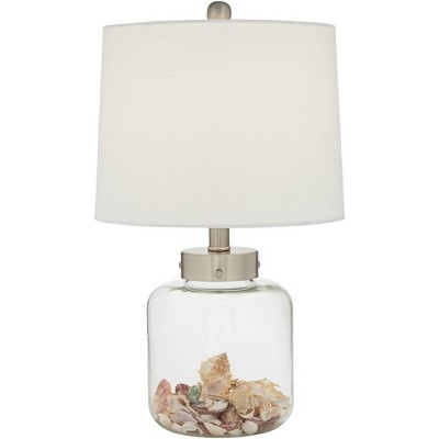 360 Lighting Nautical Accent Table Lamp, Square Glass Table Lamp Base