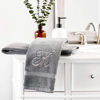 """Set Of 2 Monogram Initial /""""G/"""" Christmas Kitchen Towels New"""