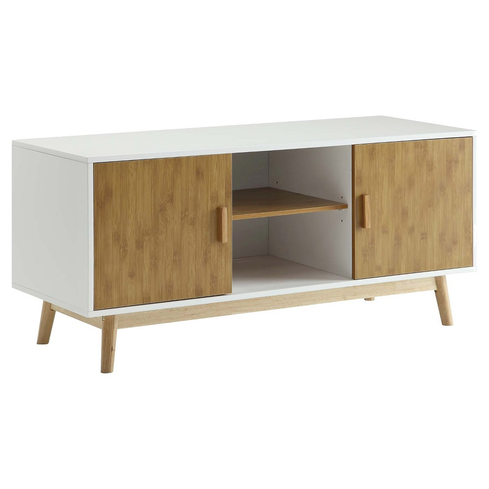 Oslo TV Stand White 47 - Convenience Concepts