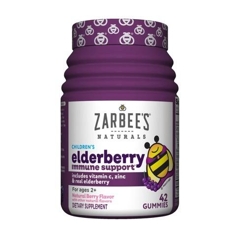 Zarbee's Naturals Children's Elderberry Immune Support Gummies - Natural Berry - 42ct - image 1 of 3