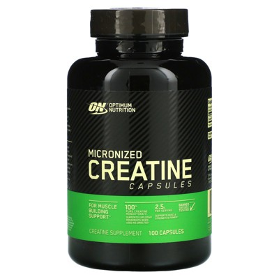 Optimum Nutrition Micronized Creatine Capsules, 100 Capsules, Sports Nutrition Supplements