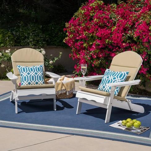 Malibu 2pk Acacia Wood Adirondack Chairs - White - Christopher Knight Home - image 1 of 4