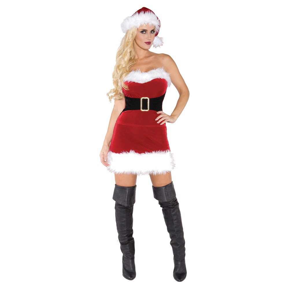 Women's Mistress Claus Costume (XL), Red