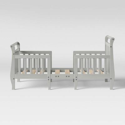 Dream On Me Emma 3-in-1 Convertible Toddler Bed - Steel Gray