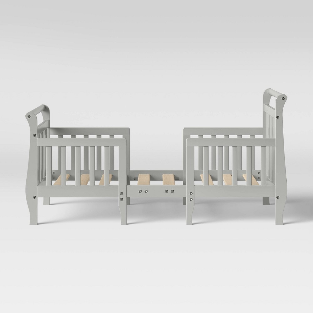Image of Dream On Me Emma 3-in-1 Convertible Toddler Bed - Steel Gray