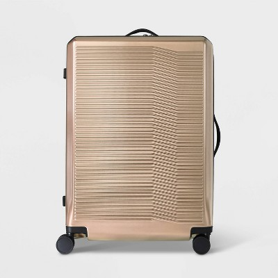 "Hardside 29"" Checked Suitcase Champagne - Open Story™"