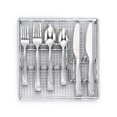 40pc Stainless Steel Mena Frost Silverware Set - Cambridge Silversmiths