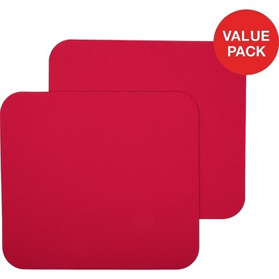 Staples Maroon Mouse Pad 2 Count Value Pack 2498467
