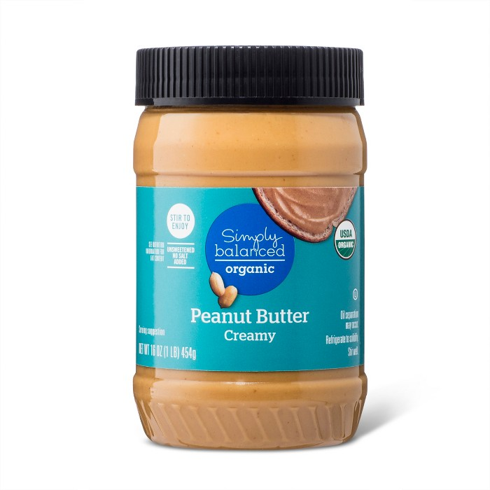 Organic Stir Creamy Peanut Butter 16oz - Simply Balanced™ - image 1 of 1