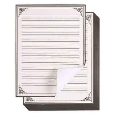 Vintage Stationery Writing Paper, Letter Size (Cream, 8.5 x 11 In, 48 Sheets)