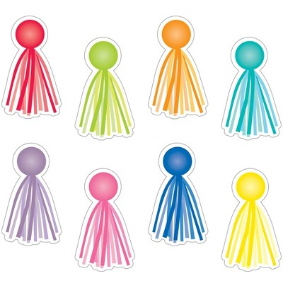 """Schoolgirl Style 36pc Hello Sunshine - Tassels Colorful Cut-Outs 6"""" x 3.5"""""""