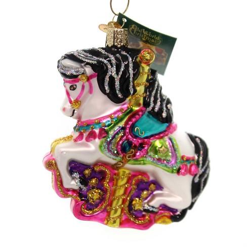 Old World Christmas 4 25 Carousel Horse Ornament