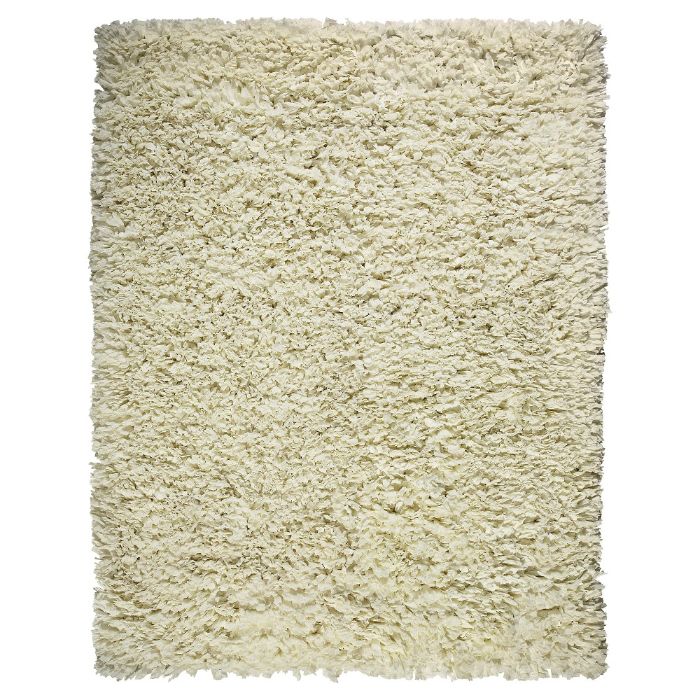 Image of 3'X5' Solid Accent Rug Ivory - Anji Mountain