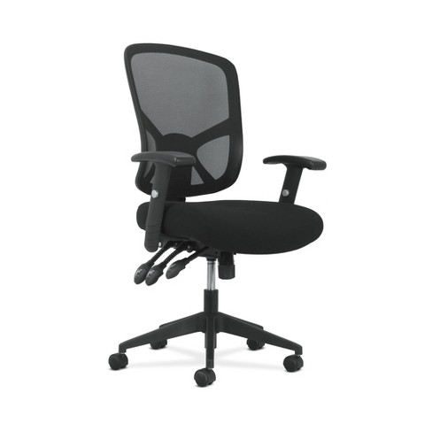 Sadie Customizable Ergonomic High Back Mesh Task Chair Black Ofm