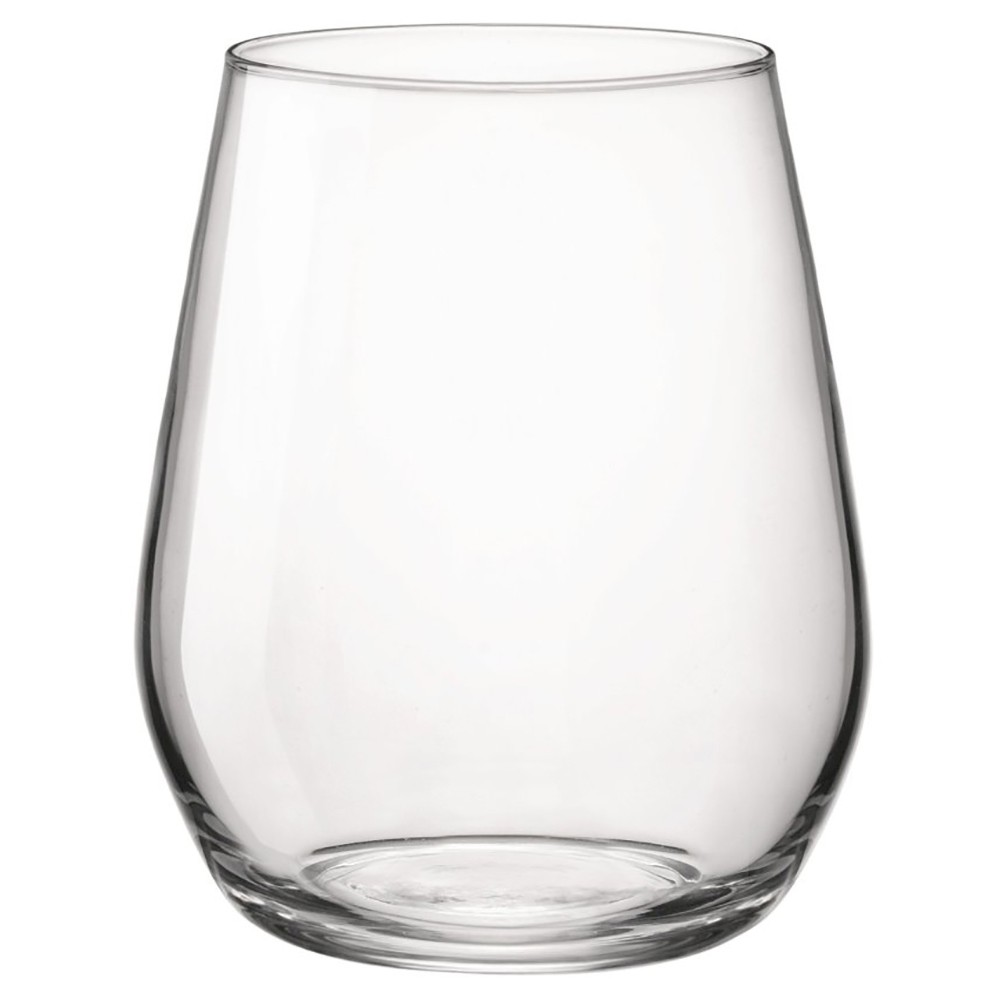 Image of Bormioli Rocco 12.8oz 6pk Glass Electra Stemless Wine Glass, Clear