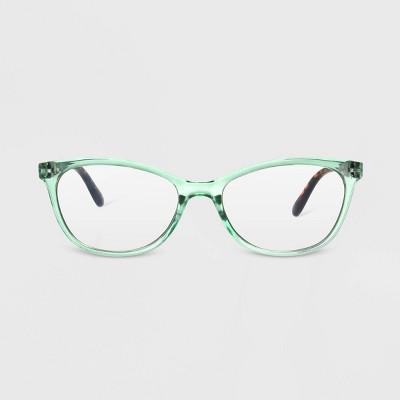 Women's Blue Light Filtering Cateye Glasses - A New Day™ Mint Green