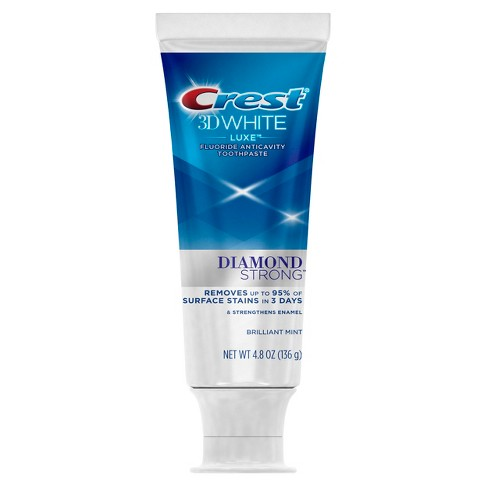 Crest 3D White Luxe Diamond Strong Whitening Toothpaste Brilliant Mint - 4.8oz - image 1 of 3