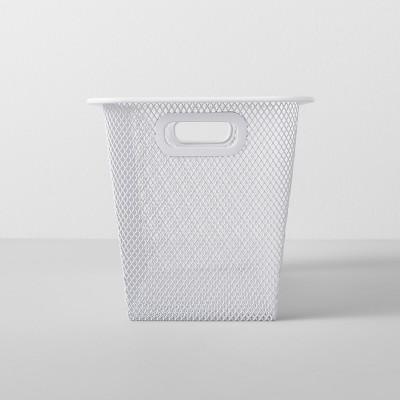Slim Metal Shoe Bin 6.25 W X 12.75 D X 6.25 H - White - Made By Design™