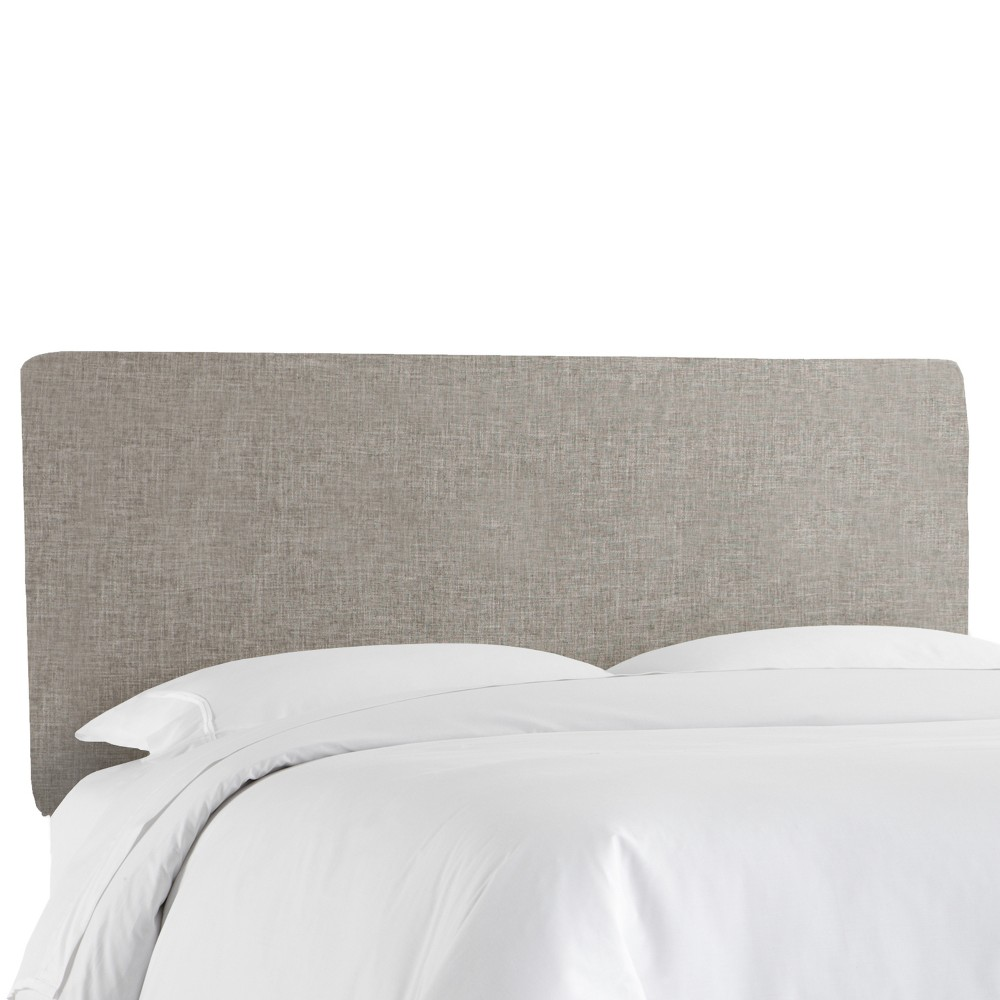 King Olivia Upholstered Headboard Feather Gray Linen - Cloth & Co.