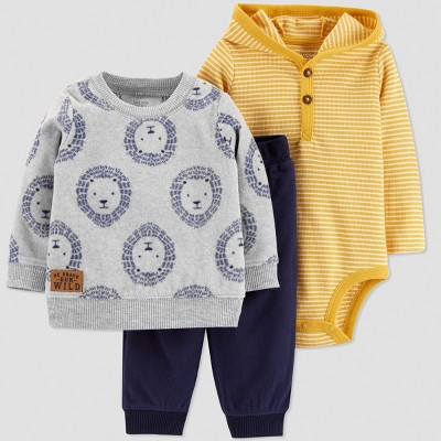Baby Boys' 3pc Lion Set - Just One You® made by carter's Yellow 3M