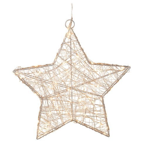 "16"" LED Lighted Star Silver - image 1 of 1"