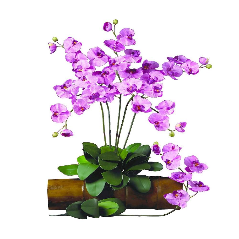 Nearly Natural Phalaenopsis Stem (Set of 12), Pink