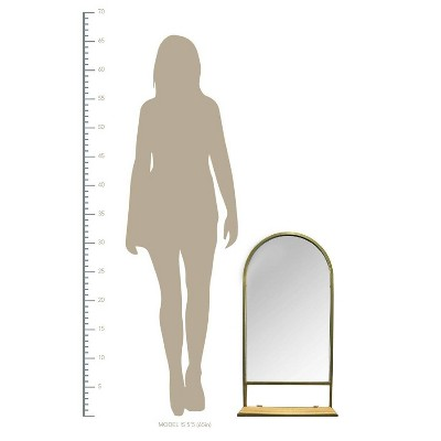"16.14"" x 31.89"" Madeline Mirror with Collapsible Shelf"