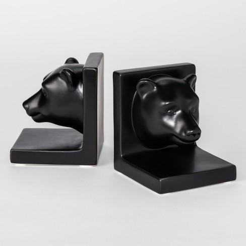 Decorative Bookend Black Bear Room Essentials