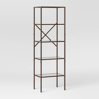 Metal/Glass Linen Tower Oil Rubbed Bronze - Threshold™