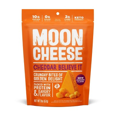 Moon Cheese Cheddar Natural & Crunchy Cheese Snack - 2oz