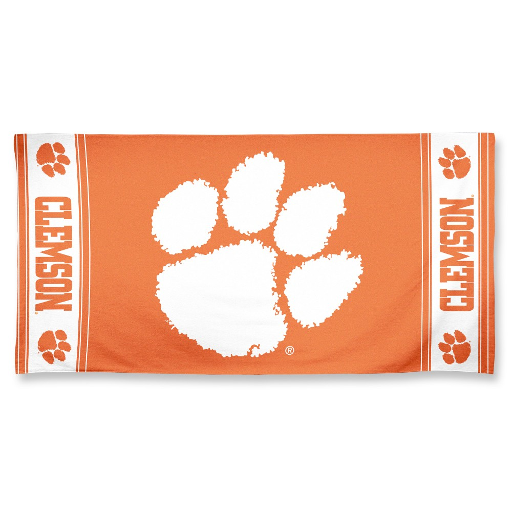 NCAA Clemson Tigers Beach Bath Towel