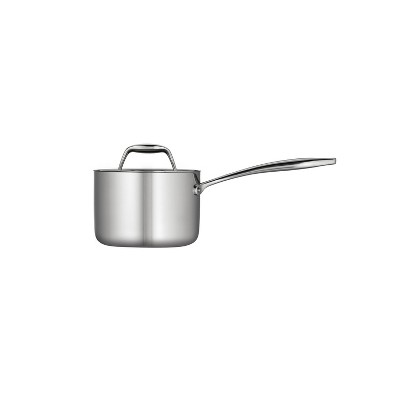 Tramontina Gourmet Tri-Ply Clad 1.5qt Sauce Pan with Lid Silver
