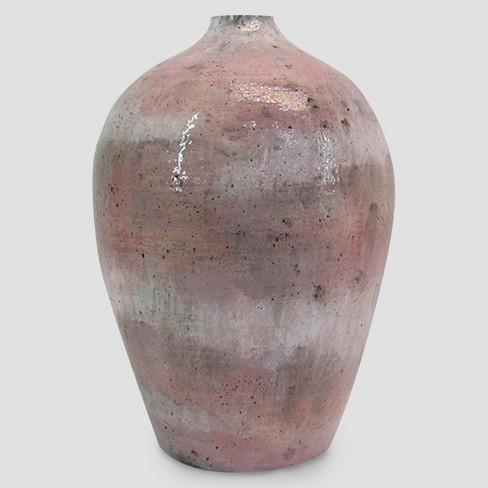 Terracotta Vase Tall Pink Threshold Target