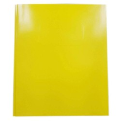 2 Pocket Paper Folder with Prongs Yellow - Pallex