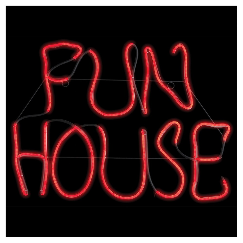 "Image of ""17"""" Halloween Fun House Glow Light Sign"""