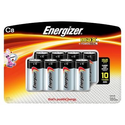 Energizer Max C Batteries 8 ct (E93BP-8H)