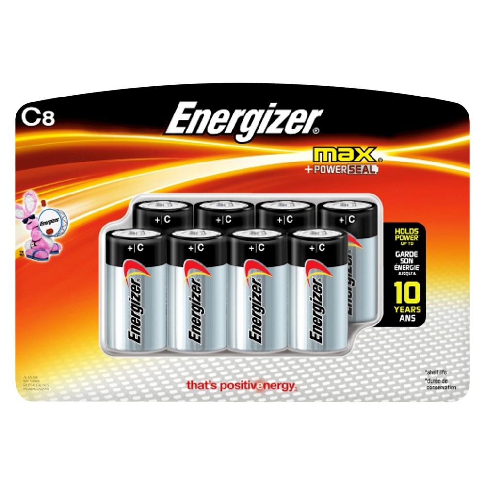 Energizer Max C Batteries 8 ct (E93BP-8H), Silver